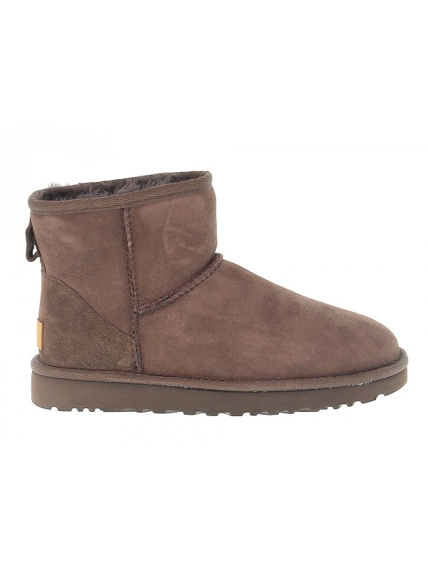 Ankle boot UGG Australia MINI CLASSIC II in chocolate suede leather