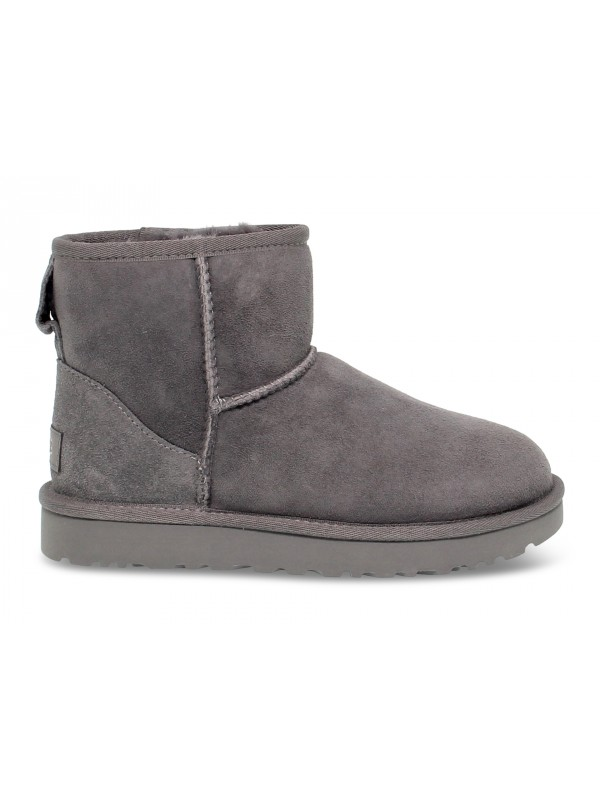 Ankle boot UGG Australia MINI CLASSIC II in grey suede leather
