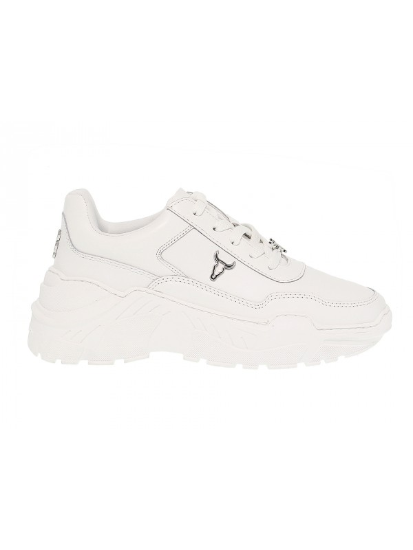 Sneakers Windsor Smith CARTE BRAVE WHITE in white leather