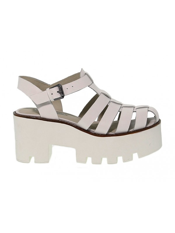 Heeled sandal Windsor Smith FLUFFY in leather