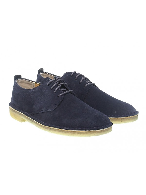 Lace up shoes Clarks DESERT LONDON in blue suede leather
