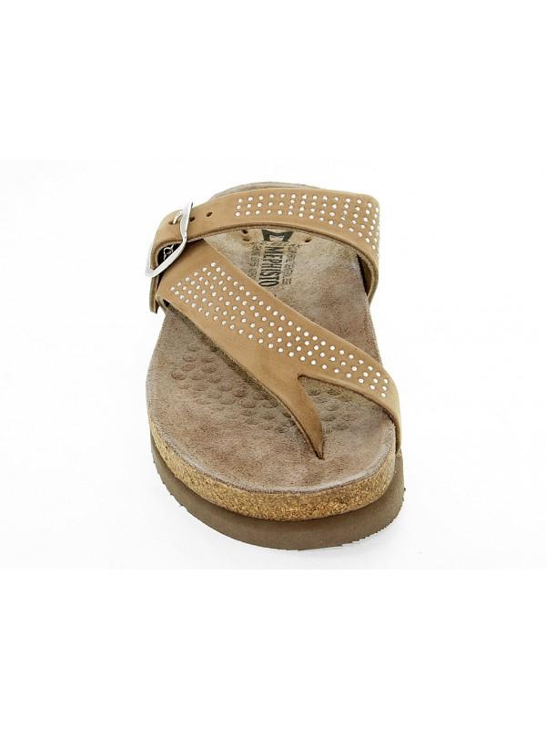 5bda6559ba3 Flat sandals Mephisto HELEN SPARK in leather - Mephisto - Brands ...
