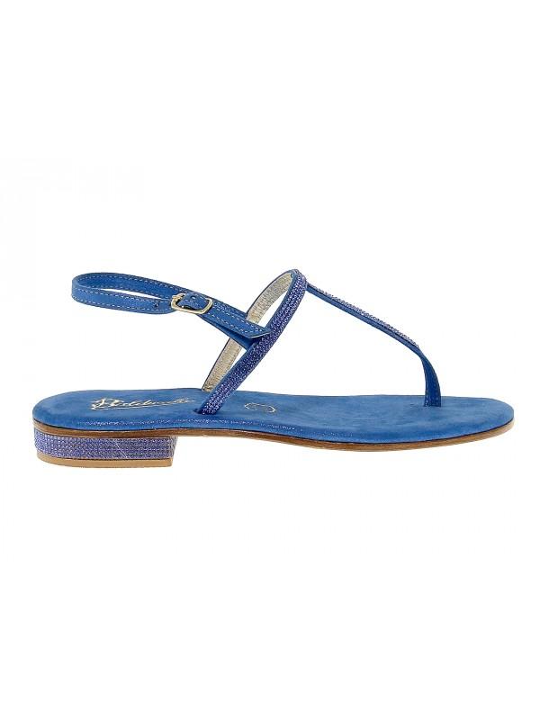 Sandales plates en peau Balduccelli