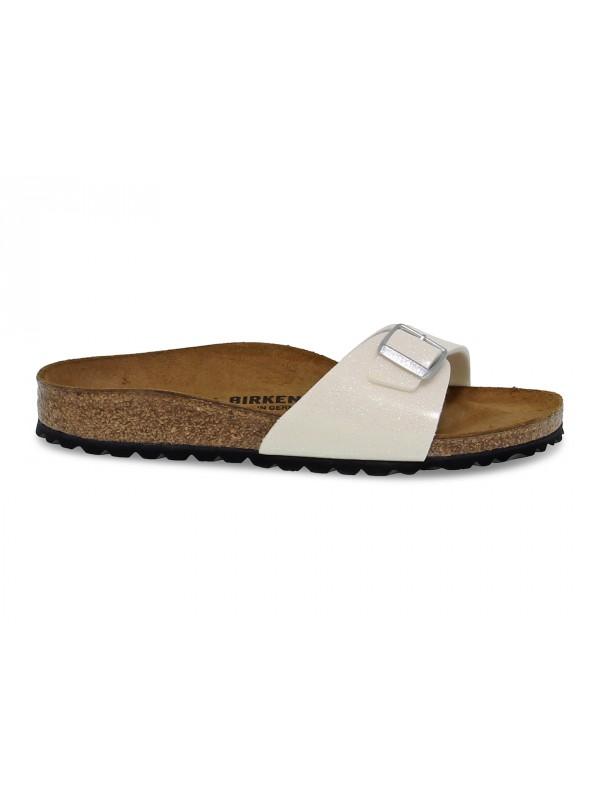 Sandales plates Birkenstock MADRID en birkoflor perle
