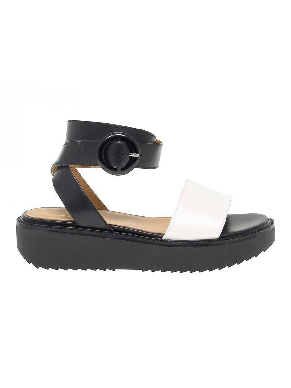 Sandales plates en peau Janet Sport