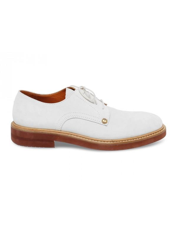 Chaussures à lacets Cesare Paciotti 308 Madison NYC en chamois blanc