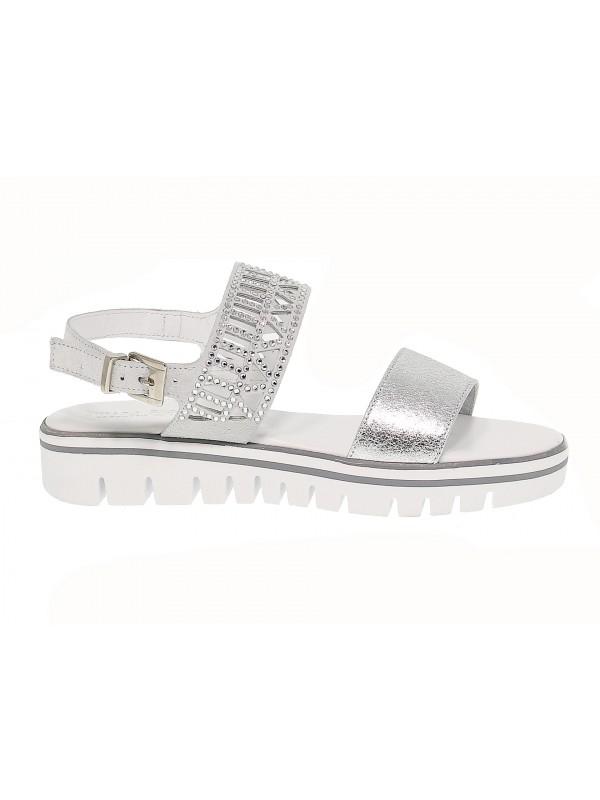 Sandales plates en peau Pasquini Calzature
