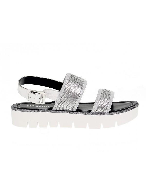 Sandales plates Pollini