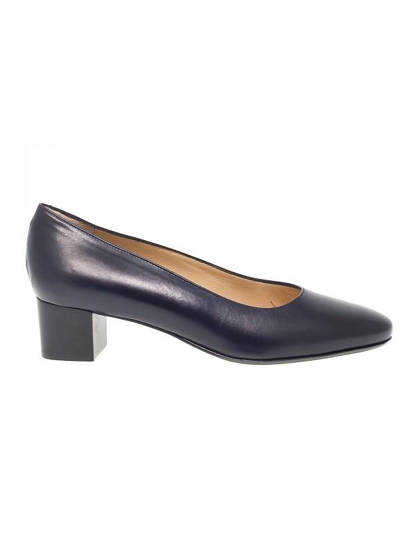 Zapato de salón Martina de piel azul