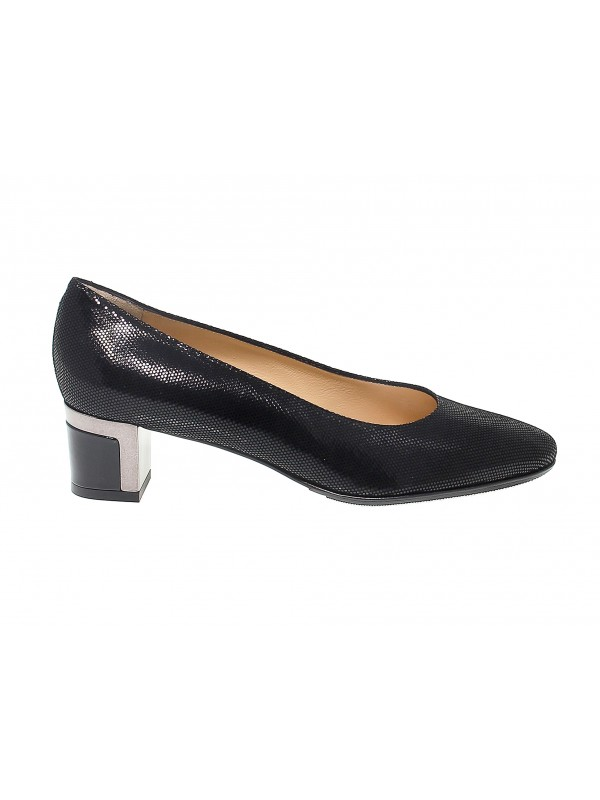 Zapato de salón Martina de gamuza negro