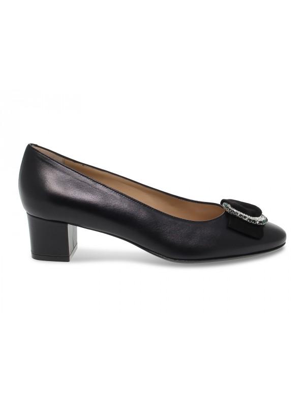 Zapato de salón Martina de piel negro