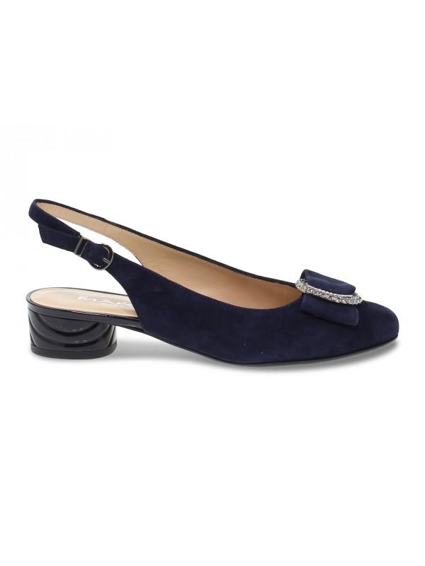 Zapato de salón Martina de gamuza azul