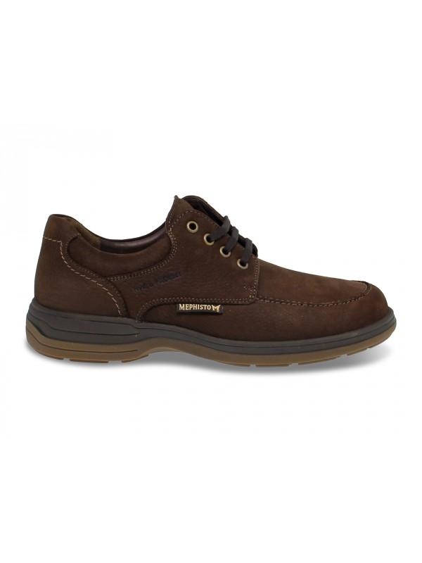 Zapato con cordones Mephisto DOUK RIKO de piel marrón oscuro