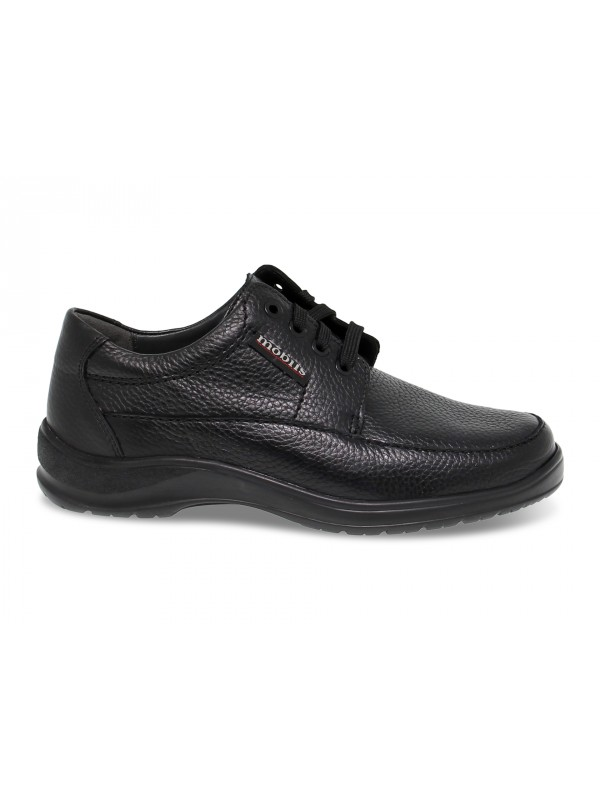 Zapato con cordones Mephisto EZARD MOBILS ERGONOMIC de napa negro