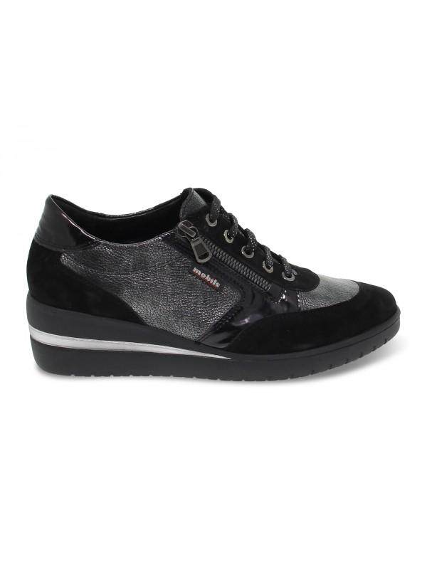 Zapato plano Mephisto PATRIZIA MOBILS ERGONOMIC de gamuza negro