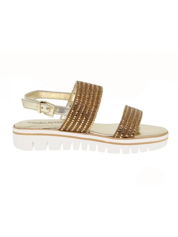 Sandalia plana de piel Pasquini Calzature