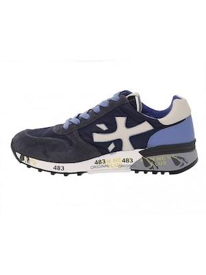 sneakers blu premiata uomo camoscio e tessuto
