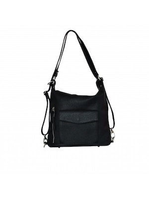 Zainetto_con_tracolla_donna_in_pelle_It_bags_nero_con_tasche
