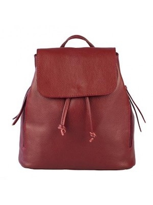 Zainetto donna in pelle It bags bordeaux con chiusura a clip